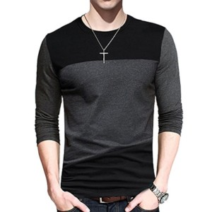 Contrast Body Long Sleeve T-shirt Wholesale