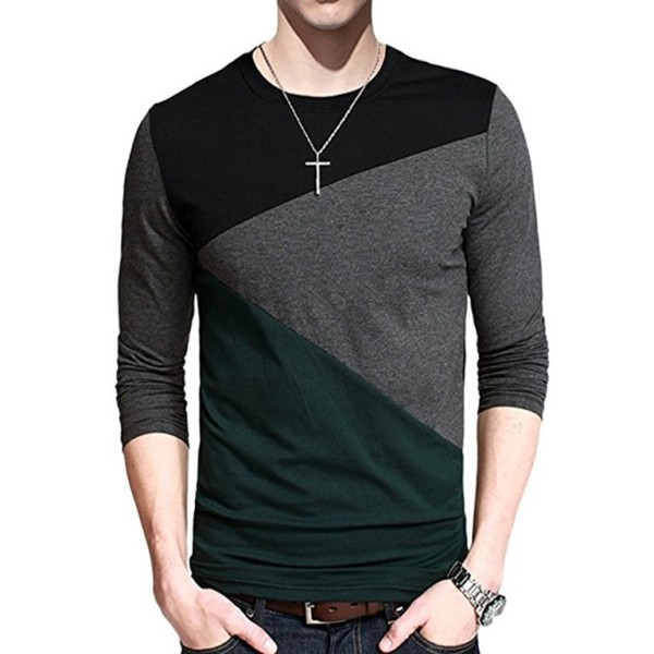 Contrast Body Long Sleeve T-shirt Suppliers