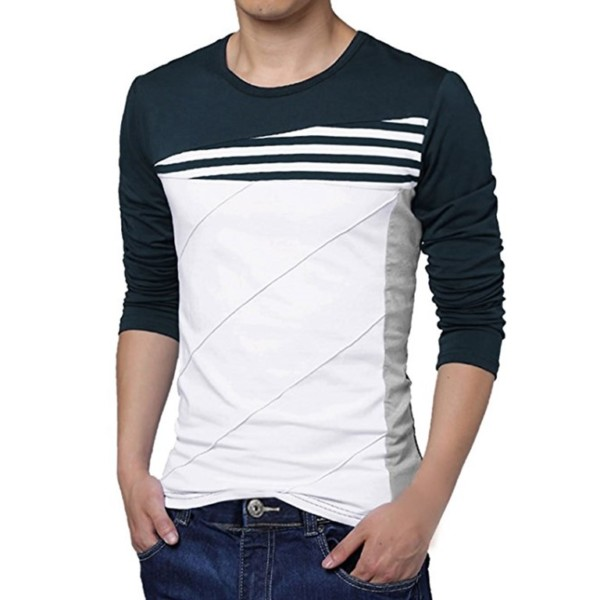 Contrast Body Long Sleeve T-shirt Distributors