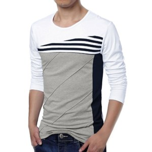 Contrast Body Long Sleeve T-shirt manufacturers