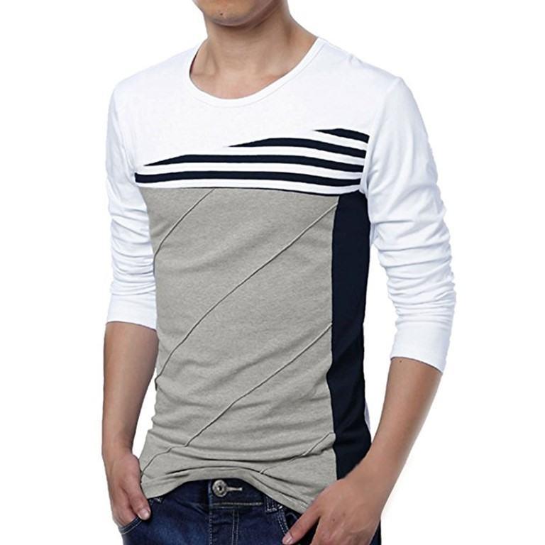 Wholesale Contrast Body Long Sleeve T Shirt Manufacturer