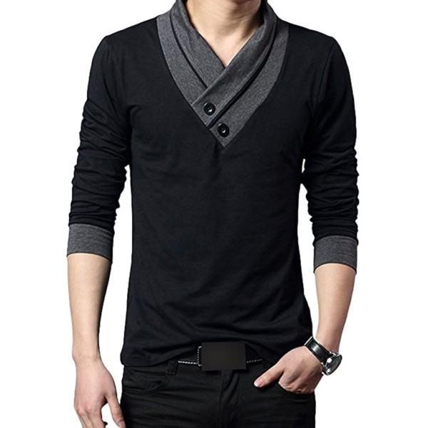 V-neck Long Sleeve T-shirts Wholesale