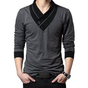V-neck Long Sleeve T-shirts Distributors