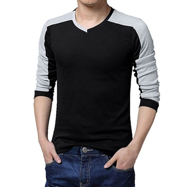 V-neck Long Sleeve T-shirts Manufacturers