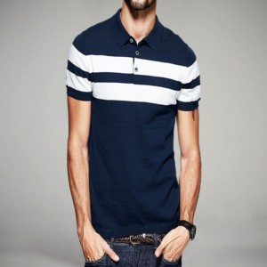 Striped short sleeve polo shirt suppliers