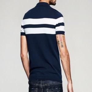 Striped short sleeve polo shirt distributors