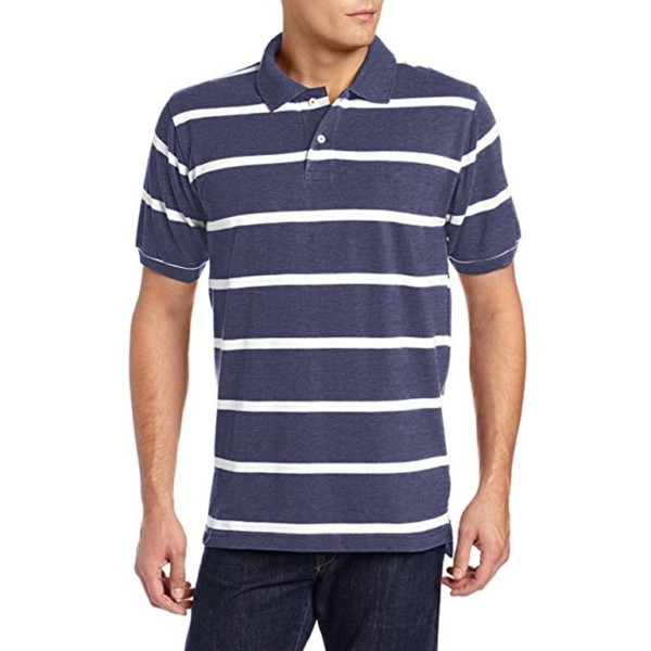 Striped short sleeve polo shirt wholesale