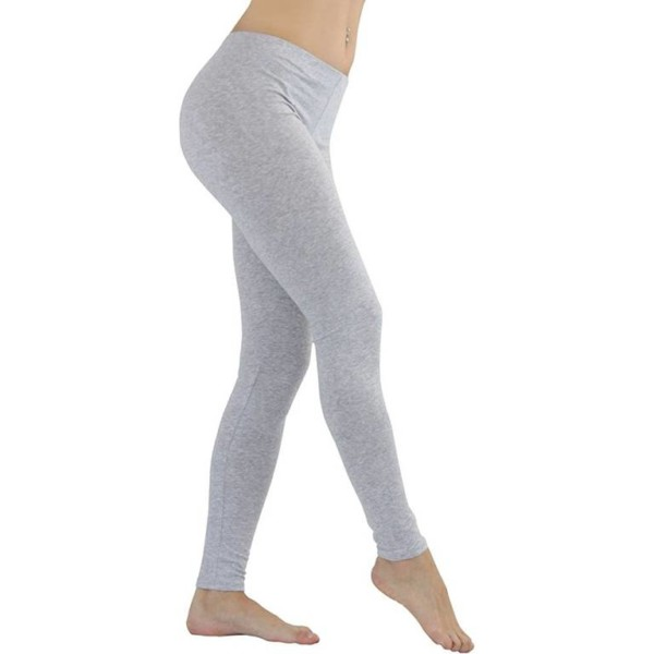 Cotton Grey Leggings white label