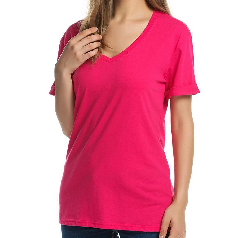 Cotton v neck t shirt wholesale supplier manufacturer for T shirt tags wholesale