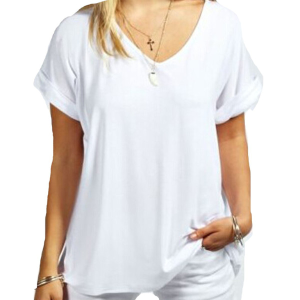 Cotton V Neck T-Shirt wholesale (5)