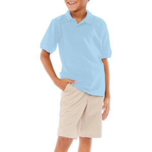 Light Blue Uniform Poli Shirts wholesale
