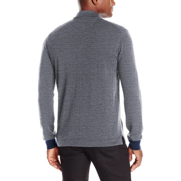 Long Sleeve Wool Polo Shirts White Label