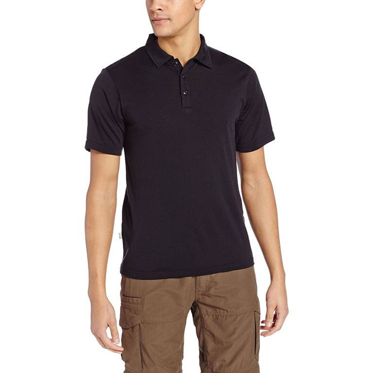 Short Sleeve Merino Wool Polo Shirts Wholesale