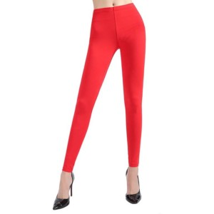 Red Cotton Leggings private label