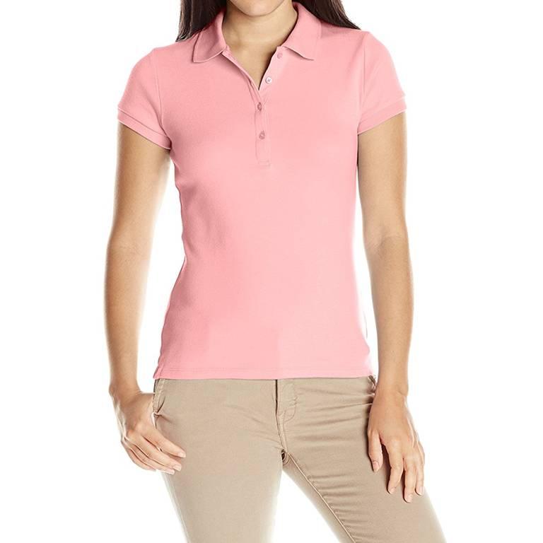 Women's Uniform Polo Shirts white label