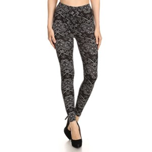 Black Printed Leggings Wholesale