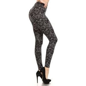Black Printed Leggings Distributor