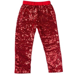 kids sequin leggings white label