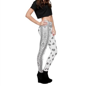 White Printed Leggings Manufacturer