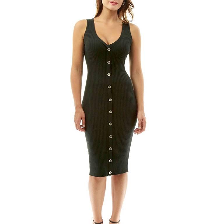 V Neck Dress Manufacturer-Supplier Thygesen Textile Vietnam
