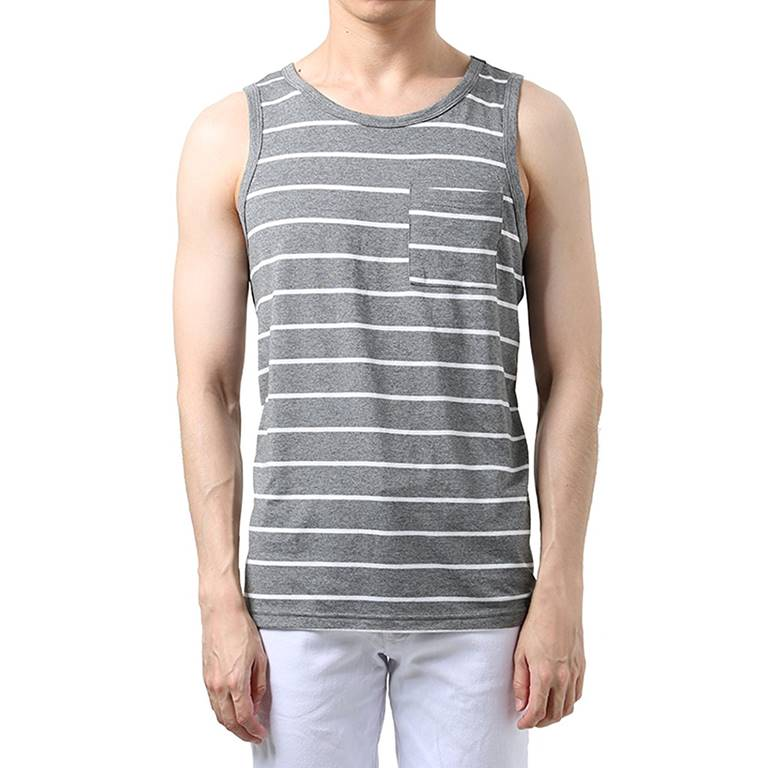 Men Striped Tank Top Manufacturer-Supplier Thygesen Textile Vietnam