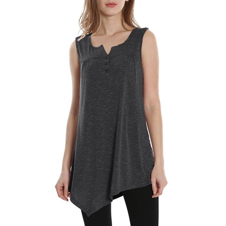Women Henley Tank Top Manufacturer-Supplier Thygesen Textile Vietnam