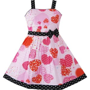 Girls Heart Printed Dress Manufacturer-Supplier Thygesen Textile Vietnam