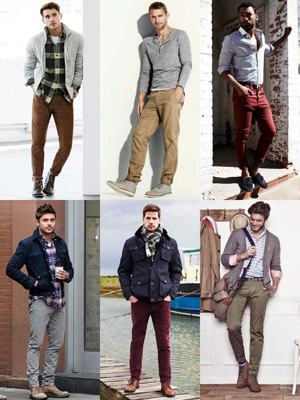 Add some variety to your wardrobe by investing in one or two pairs of chinos.