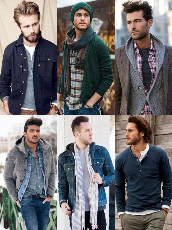 Casual outfits with multiple layers