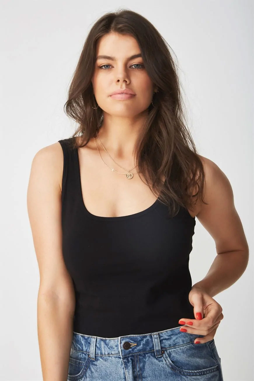 Thick Strap Tank Tops
