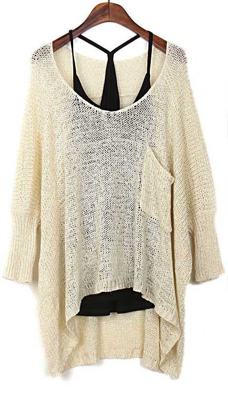 Tank top and sheer sweater/via