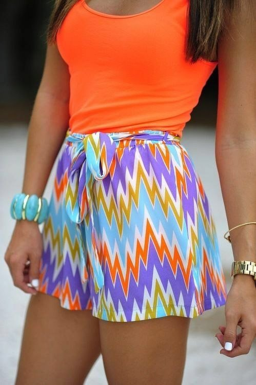 Tank top with flow shorts