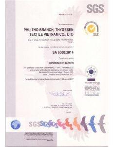 TSV SA8000 Certificate