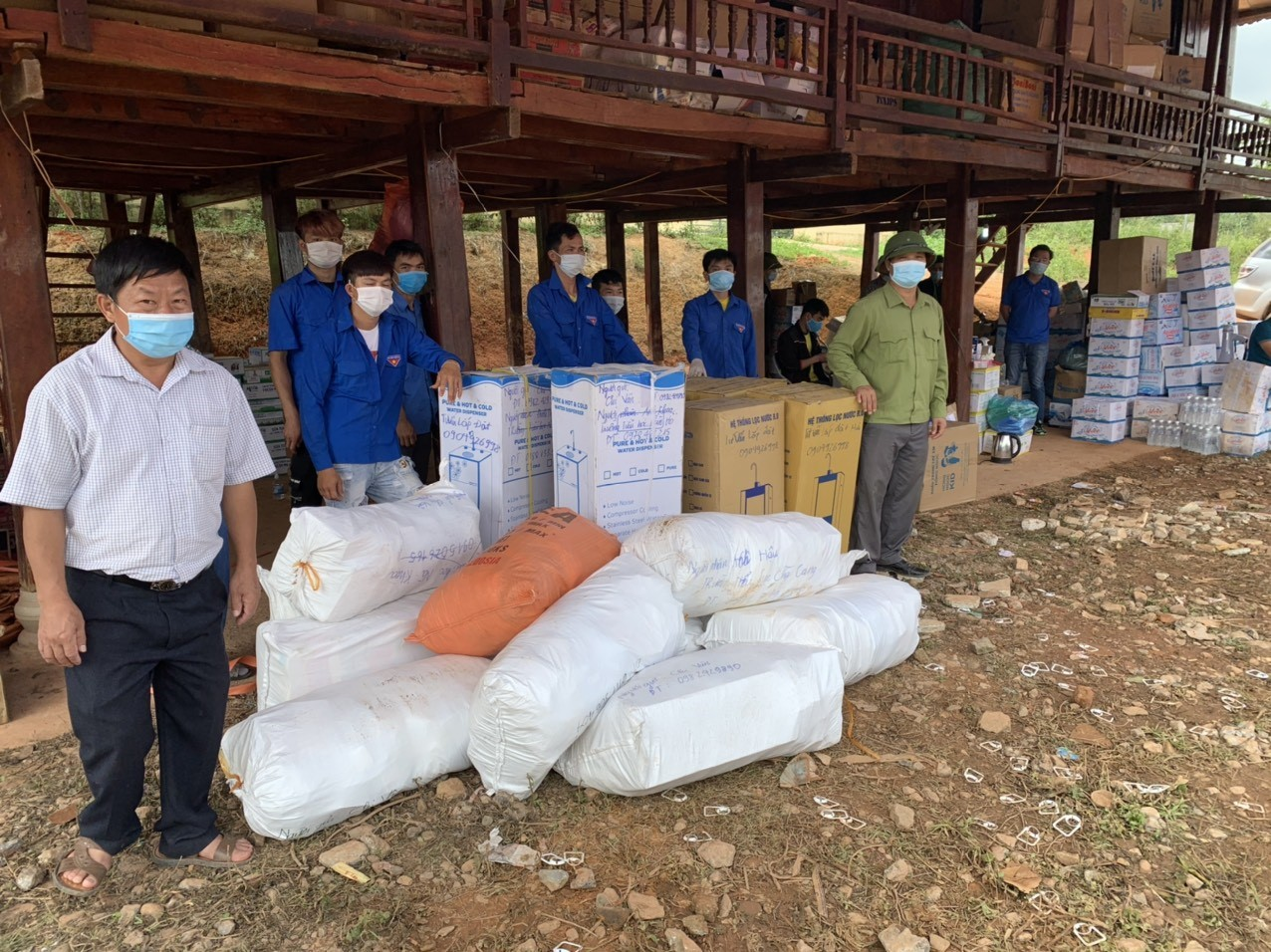 Medical masks, medicines, water purifiers and essential items are given to the children