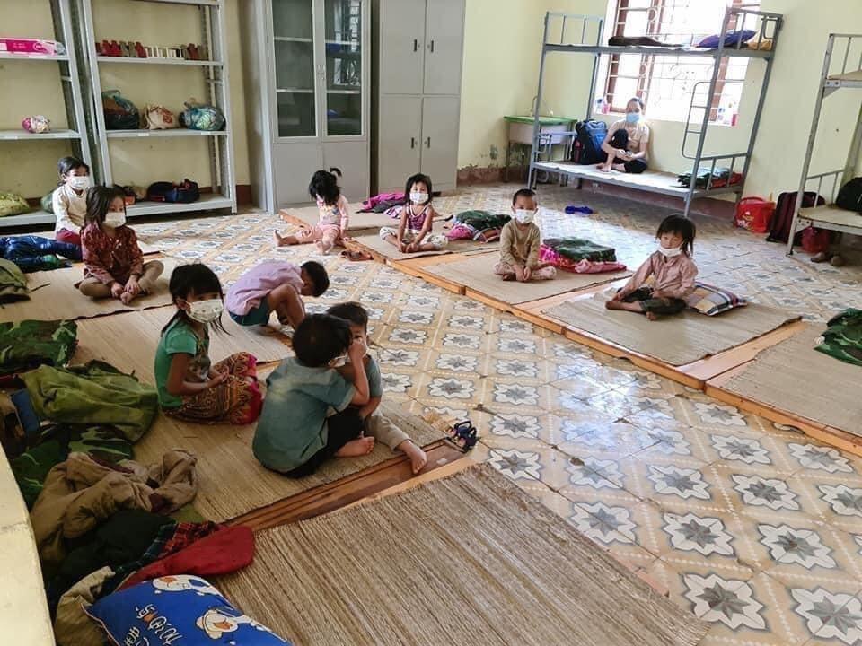 children getting rest