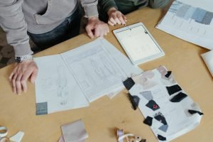 working with clothing manufacturer