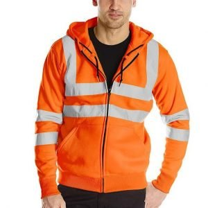cotton-elastane workwear hoodie