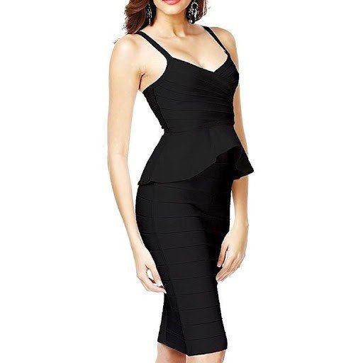 polyester elastane formal dress